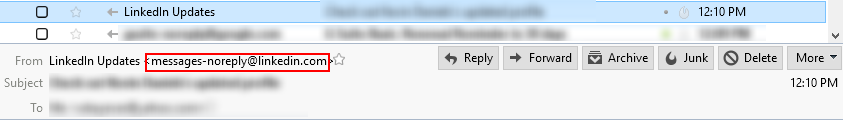 Real Email Address in Thunderbird